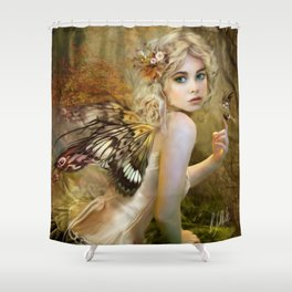 Touch of Gold - Fairy Shower Curtain