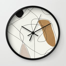 Thin Flow II Wall Clock