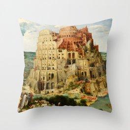 """Pieter Bruegel (also Brueghel or Breughel) the Elder """"The Tower of Babel (Vienna)"""" Throw Pillow"""
