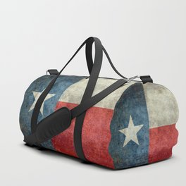 Texas state flag, Vertical retro vintage Duffle Bag