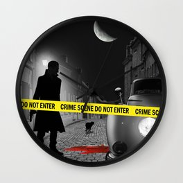 Crime scene do not enter Wall Clock
