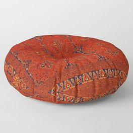 N194 - Red Berber Atlas Oriental Traditional Moroccan Style Floor Pillow