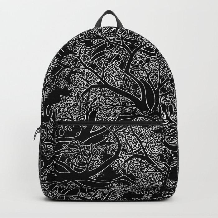 Tree Repeat Black Backpack