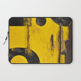 black numbers on yellow background Laptop Sleeve