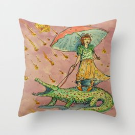 The End of the World - Meteor Throw Pillow