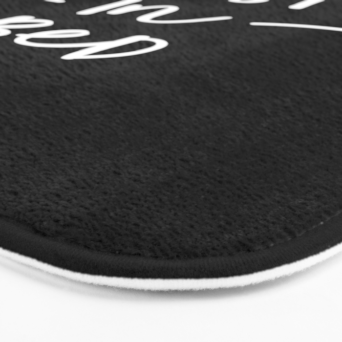 Namastay in Bed black and white contemporary minimalist namaste home room wall decor bedroom Bath Mat