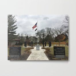 Veteran's Memorial Park in Bettendorf, Iowa Metal Print