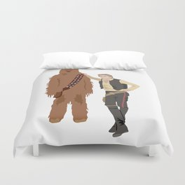 Han Solo and Chewbacca Duvet Cover