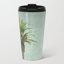 A palm tree on the mountain Travel Mug