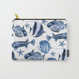 Fish Underwater Watercolor Pattern Carry-All Pouch