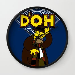 Doctor D'oh Wall Clock