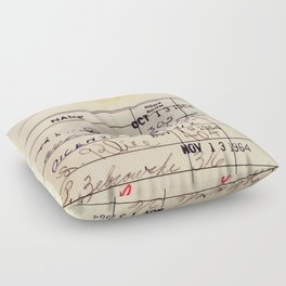 Library Card 23322 Floor Pillow