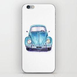 Vintage blue car iPhone Skin