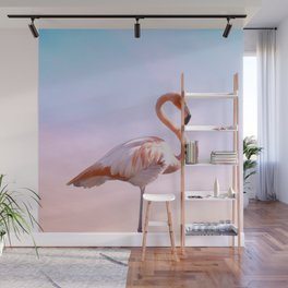 Flamingo and Unicorn Sky | Flamingo Photography | Ocean | Beach | Travel | Tropical | Landscape Wall Mural
