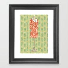 A Vintage Dress Framed Art Print