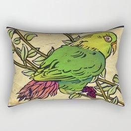 Parrot Linocut Rectangular Pillow