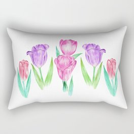 Tulip Garden Rectangular Pillow