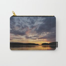 Spring Sunset - beautiful colors and reflections - cloudy sky Carry-All Pouch
