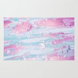 Shine Shimmer Pastel Pink and Blue Modern Rug