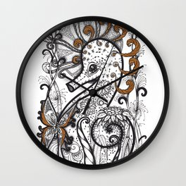Empowered Seahorse Wall Clock
