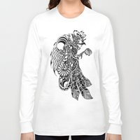rooster Long Sleeve T-shirts featuring Rooster by BurnBrand