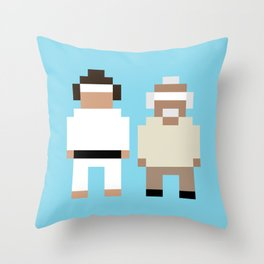 The Karate Kid and Mr Miyagi Throw Pillow
