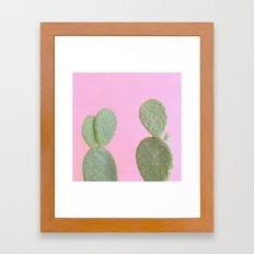 Pink Cacti Framed Art Print