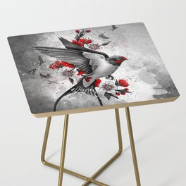swallows and sakuras Side Table