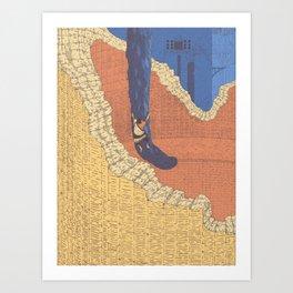 Climing Trico Art Print