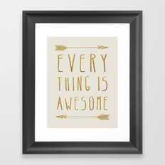 Everything is Awesome (beige edition) Framed Art Print