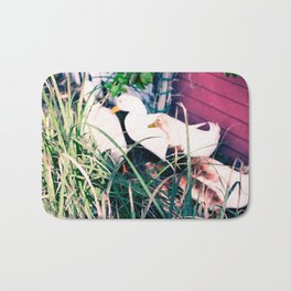 Tail Feathers Country Barn Print Bath Mat