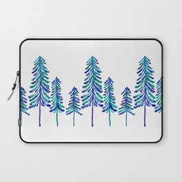 Pine Trees – Navy & Turquoise Palette Laptop Sleeve