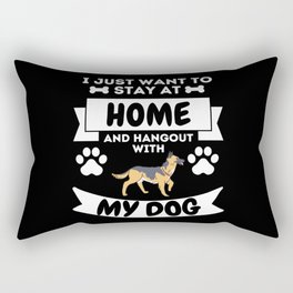 I Just Want To Hangout With My Dog Home Rectangular Pillow