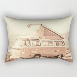 Vintage Van (Color) Rectangular Pillow