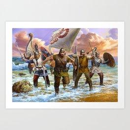Viking attack Art Print