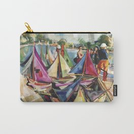 A September sun illuminates the boat tender's stand, No. 1 - The Tuileries pond, Paris Carry-All Pouch