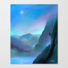 Life Mountain Climbing Canvas Print