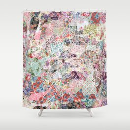 Rome map Shower Curtain