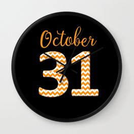 October 31 Halloween Wall Clock