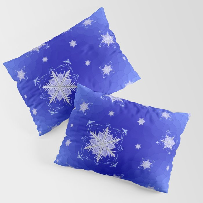 Snowflake Pattern - Bladed Sky Pillow Sham