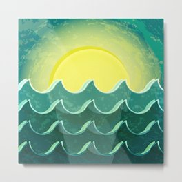 Sun and sea Metal Print
