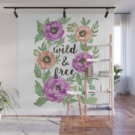 Wild & Free Watercolor Illustration Wall Mural