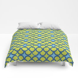 Blue Green Scales Comforters