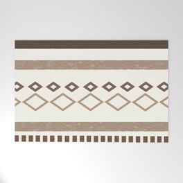 Western Pattern, Out West, Patterns, Brown, Tan, Beige, Shapes, Geometric Western Art Welcome Mat
