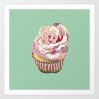 Petal Pink Dream Cupcake Art Print