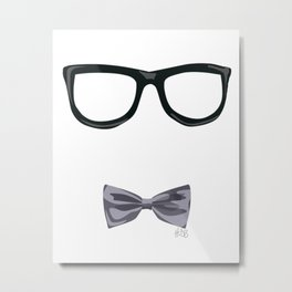 Hipster Bowtie Metal Print