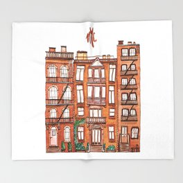 NYC - Watercolor Throw Blanket