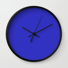 Cornflower Blue Solid for Cowboy Country Rustic Set Wall Clock