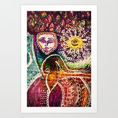 Energy-Flow Art Print