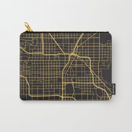 LAS VEGAS NEVADA GOLD ON BLACK CITY MAP Carry-All Pouch